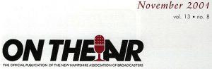 On The Air banner - November 2001